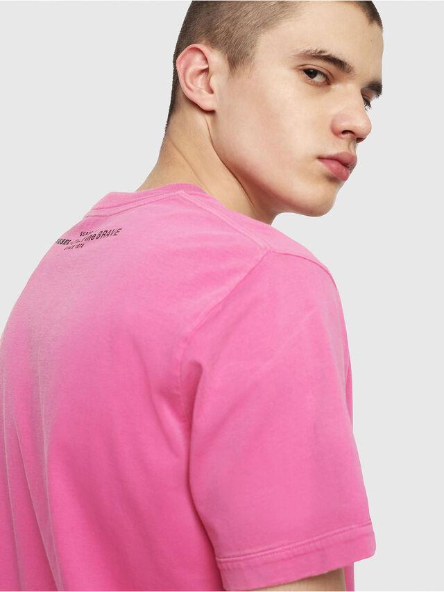 Diesel - T-SHIN, Fuchsie - T-Shirts - Image 3