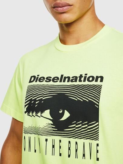Diesel - T-DIEGO-J4, Neongelb - T-Shirts - Image 5