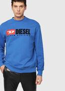 S-CREW-DIVISION, Brillantblau - Sweatshirts