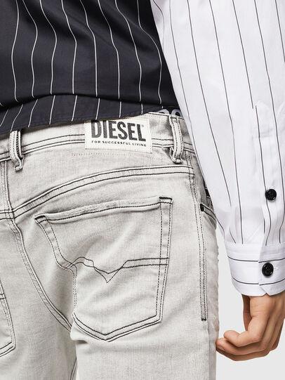 Diesel - Sleenker 0090F, Hellgrau - Jeans - Image 5