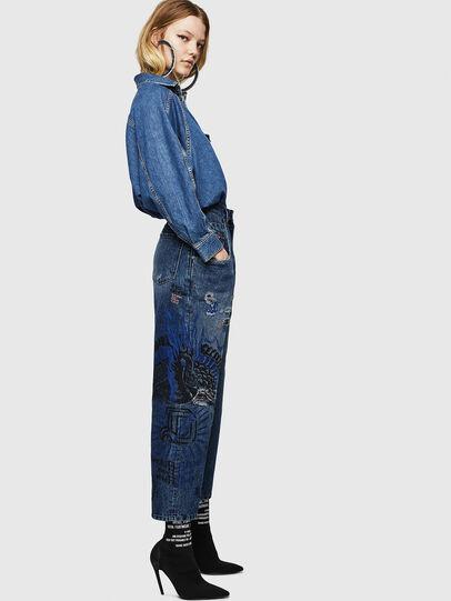 Diesel - Widee 0092Z, Mittelblau - Jeans - Image 7