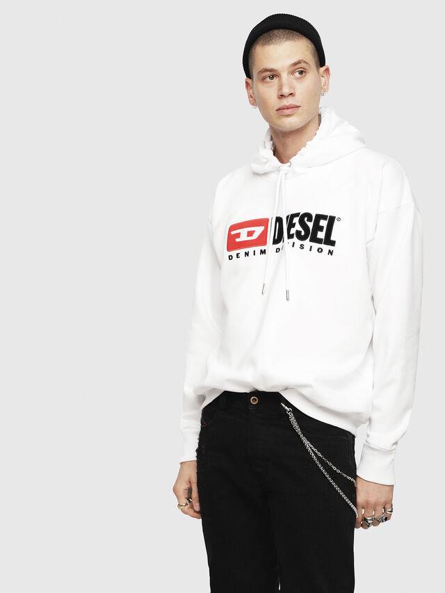 Diesel - S-DIVISION, Weiß - Sweatshirts - Image 1
