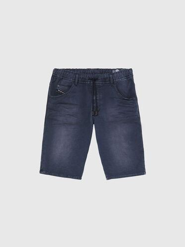 Shorts im Slim Fit aus gefärbtem JoggJeans®-Material
