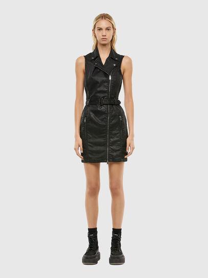 D-ACICO JOGGJEANS Damen: Kurzes Kleid mit Bikerdetails ...