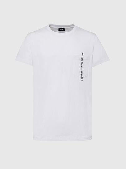 Diesel - T-RUBIN-POCKET-J1, Weiß - T-Shirts - Image 1