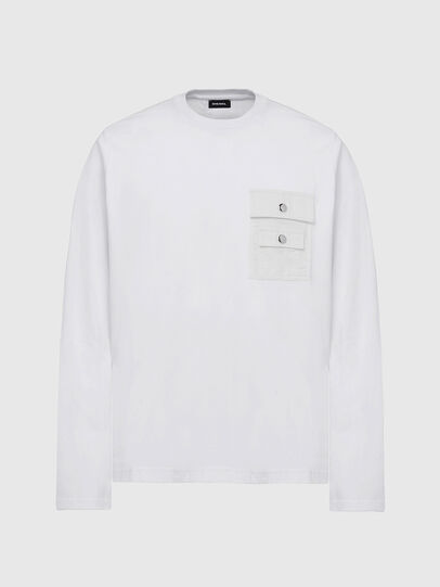 Diesel - T-TASK-LS, Weiß - T-Shirts - Image 1