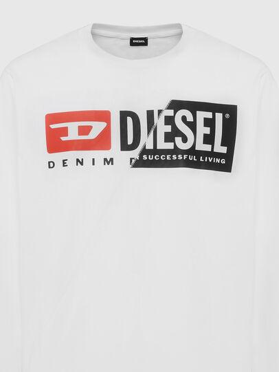 Diesel - T-DIEGO-LS-CUTY, Weiß - T-Shirts - Image 3