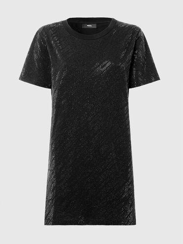 T-Shirt-Kleid mit winzigen Ziernieten
