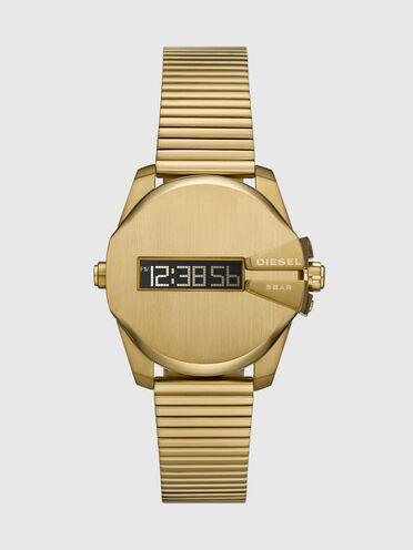 Baby Chief-Armbanduhr mit digitalem Uhrwerk und goldfarbenem Edelstahlarmband
