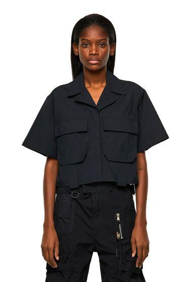 Military-Shirt aus Baumwoll-Twill
