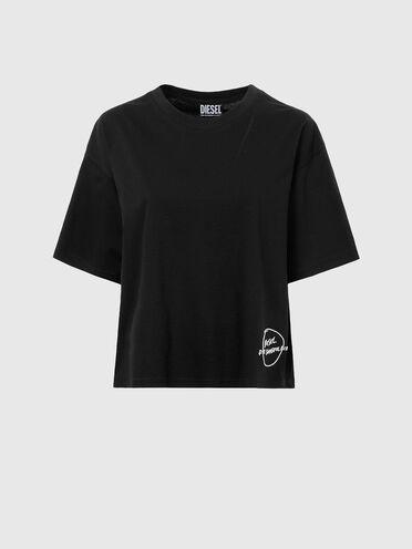 T-Shirt mit besticktem Saum