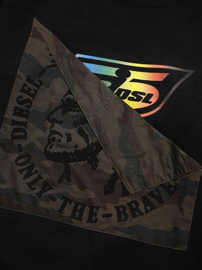 Diesel - D-HALF&HALF, Schwarz - Sweatshirts - Image 3