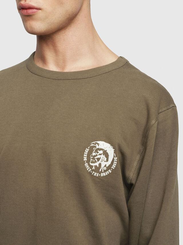 Diesel - UMLT-WILLY, Armeegrün - Sweatshirts - Image 3