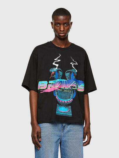 Diesel - T-DELPHI-E1, Schwarz - T-Shirts - Image 1