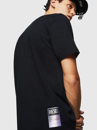 Diesel - T-JUST-B23, Schwarz - T-Shirts - Image 6