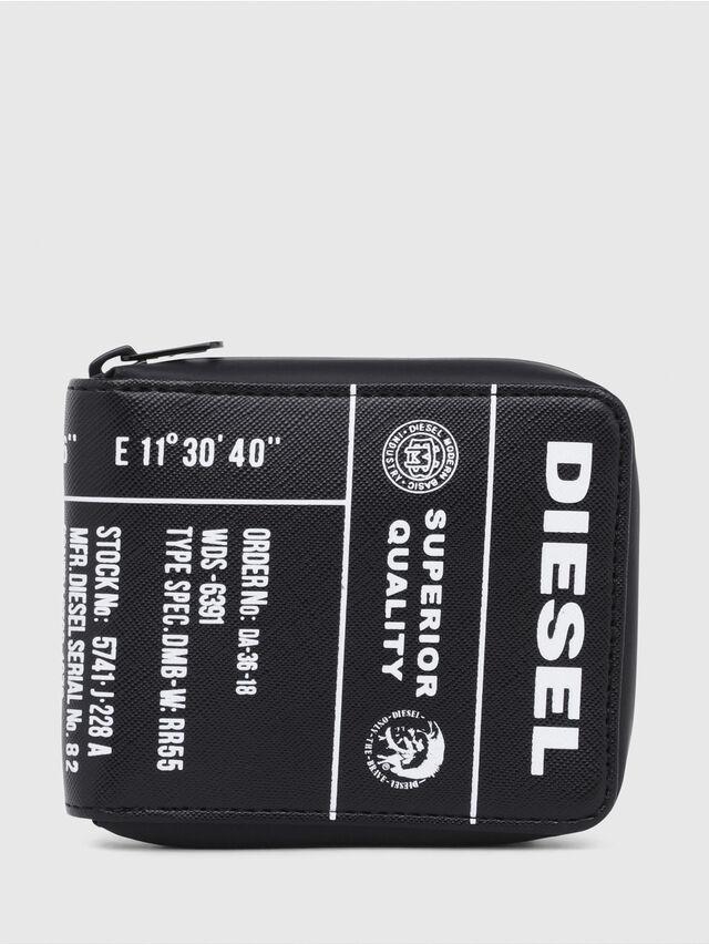 Diesel - ZIPPY HIRESH S, Schwarz/Gelb - Portemonnaies Zip-Around - Image 1