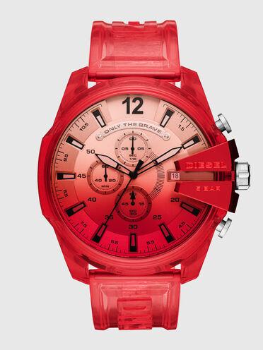 Rote Mega Chief-Armbanduhr aus Polyurethan mit Chronograph-Anzeige