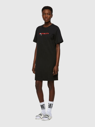 T-Shirt-Kleid mit Youthility-Print
