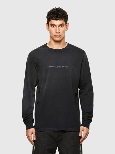 Diesel - T-JUBIND-LS, Schwarz - T-Shirts - Image 1