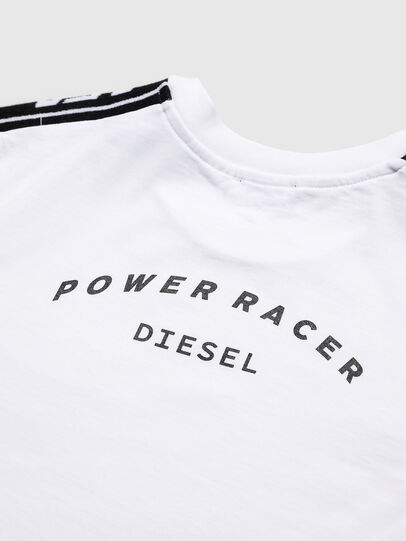 Diesel - TJUSTRACE, Weiß/Schwarz - T-Shirts und Tops - Image 4