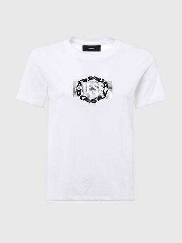 T-Shirt mit kombinierten Logos