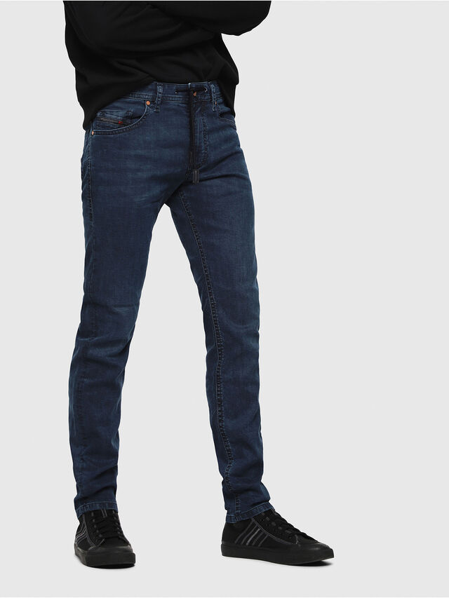Diesel - Thommer JoggJeans 0688J, Mittelblau - Jeans - Image 1