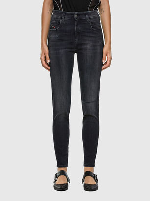 Slandy High 069RL, Schwarz/Dunkelgrau - Jeans