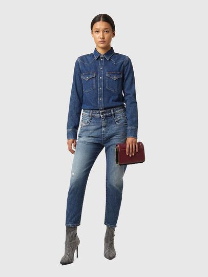 Diesel - Fayza 09A54, Mittelblau - Jeans - Image 4