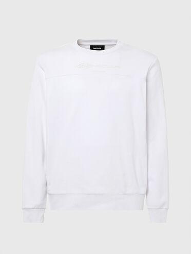 Sweatshirt aus Baumwolle mit Passe an der Vorderseite