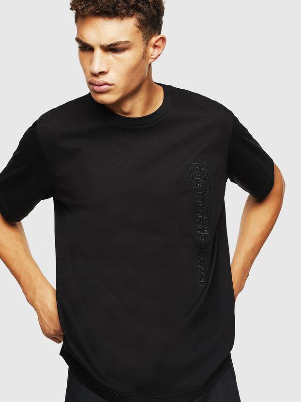 T-JUST-POCKET-J1, Schwarz - T-Shirts