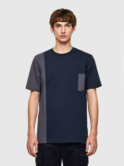 Diesel - T-RISEN-B1, Dunkelblau - T-Shirts - Image 1
