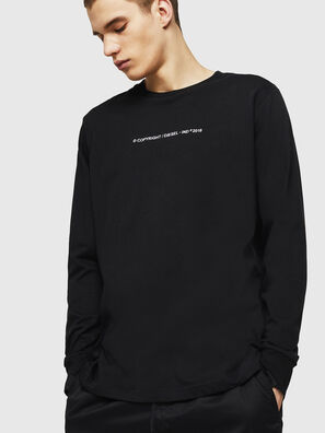 T-JUST-LS-COPY, Schwarz - T-Shirts