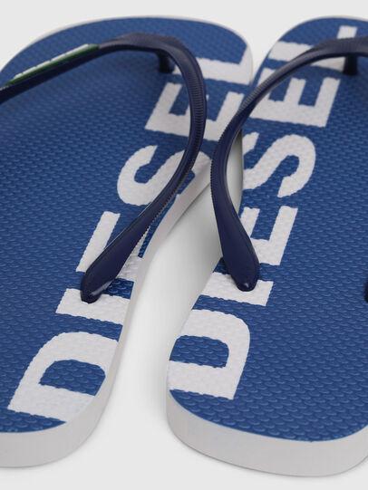 Diesel - SA-BRIIAN, Blau/Weiß - Pantoletten - Image 4