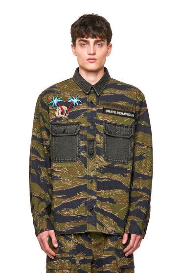 Camouflage-Shirt aus stretchigem Baumwoll-Twill