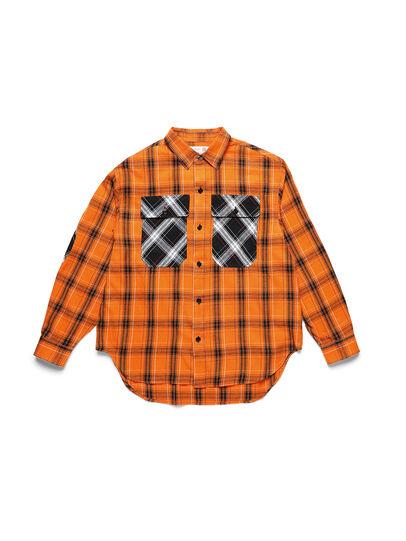 Diesel - D-ANORACHECK, Orange - Hemden - Image 1