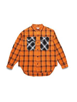 D-ANORACHECK, Orange - Hemden