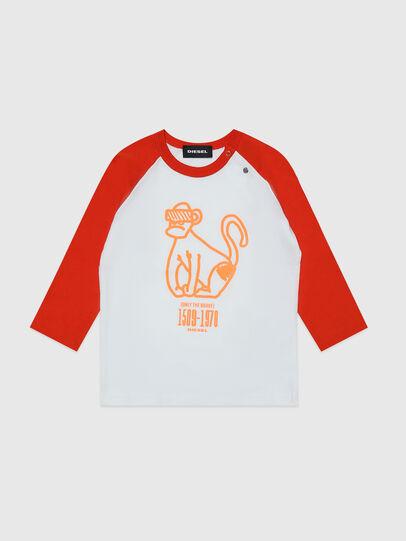 Diesel - TBALYB, Weiss/Orange - T-Shirts und Tops - Image 1