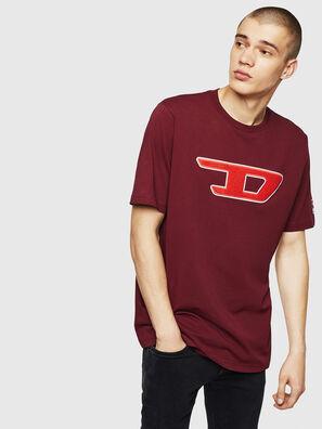 T-JUST-DIVISION-D, Bordeauxrot - T-Shirts