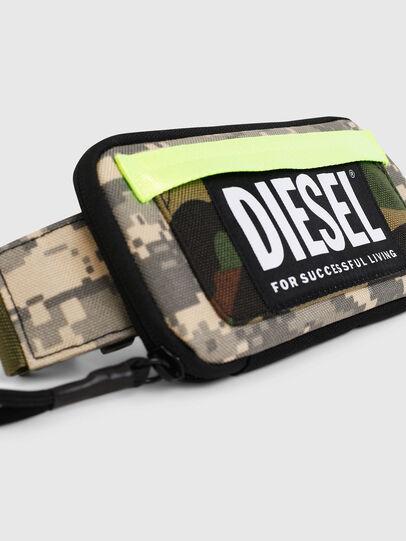 Diesel - BELT RUBBER CASE BIG, Camouflagegrün - Continental Portemonnaies - Image 5