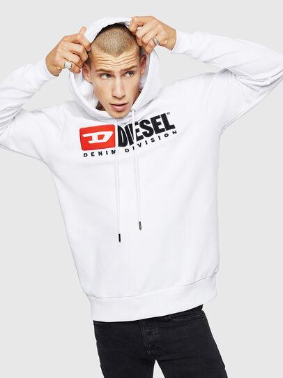 Diesel - S-GIR-HOOD-DIVISION, Weiß - Sweatshirts - Image 1
