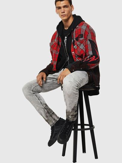 Diesel - Krooley JoggJeans 0091H, Hellgrau - Jeans - Image 4