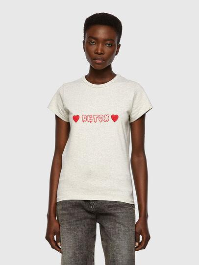 Diesel - T-SLICUP, Hellgrau - T-Shirts - Image 1