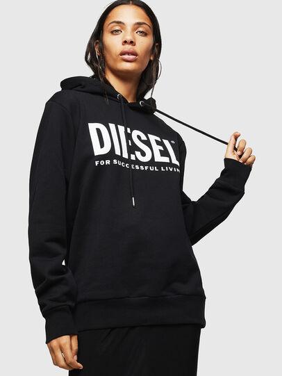 Diesel - F-GIR-HOOD-DIV-LOGO-, Schwarz - Sweatshirts - Image 1