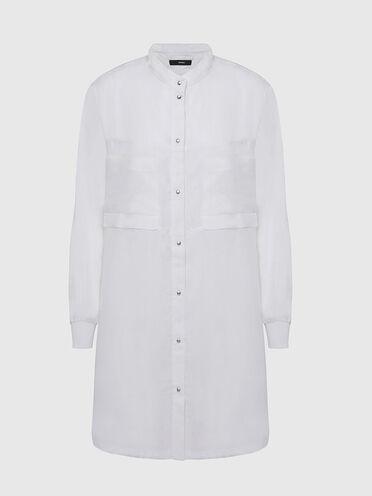 Blusenkleid aus fließendem Twillgewebe
