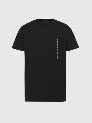 T-Shirt mit Copyright-Stickerei