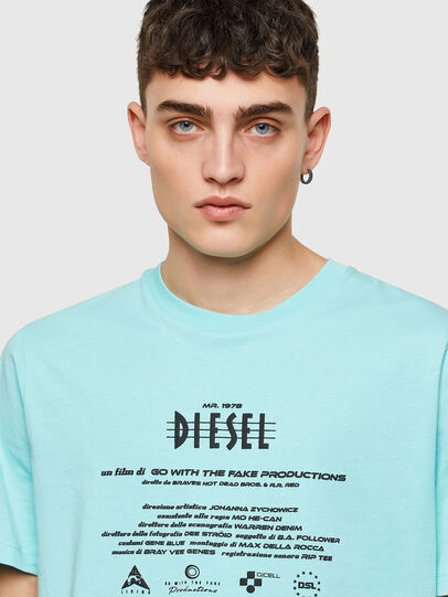 Diesel - T-JUST-E9, Hellblau - T-Shirts - Image 3