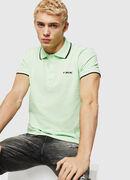 T-RANDY-BROKEN, Neongrün - Polohemden