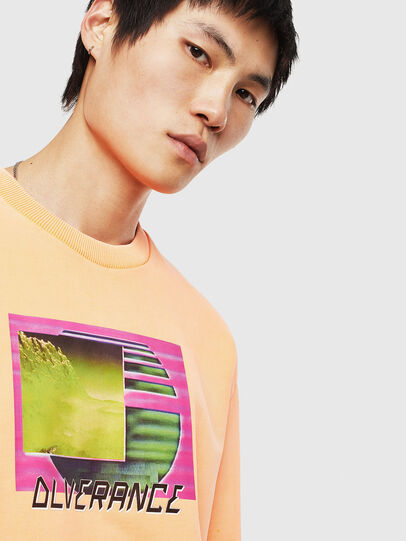 Diesel - S-BIAY-FLUO, Orange - Sweatshirts - Image 5