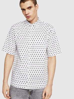 S-FRY-SKULL, Weiß - Hemden