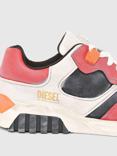 Diesel - S-RUA LOW SK, Weiss/Rot - Sneakers - Image 4